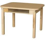 "Laminate Student Desk with Hardwood Legs (18x24"")"