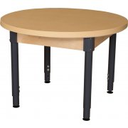 Round Adjustable Height Laminate Classroom Table (48