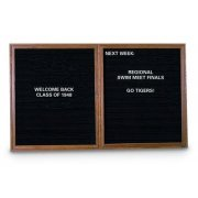 Enclosed Letter Board - 2 Door (5'x3')