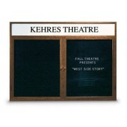 Illuminated Letter Board 2 Door w/Header Enclosed (5'x4')