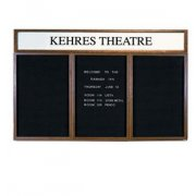 Illuminated Letter Board 3 Door w/Header Enclosed (6'x4')