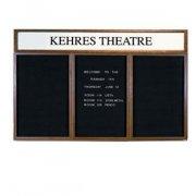 Illuminated Letter Board 3 Door w/Header Enclosed (6'x3')