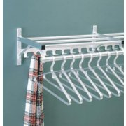 Wall Mounted Coat Rack with Hat Shelf and Hooks (5')