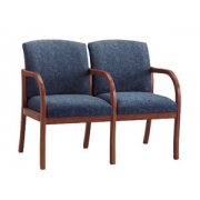 Weston  2-Seat Sofa with Center Arms - Grd 3 Fabric