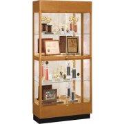 Heritage Oak 2 Tier Trophy Cabinet - Mirror (36