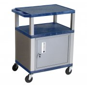 Colored Shelf Tuffy Cart with Cabinet and Electric (34