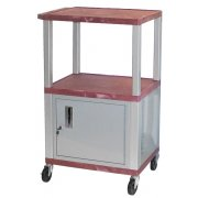 Colored Shelf Tuffy Cart with Cabinet and Electric (42