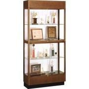 Hardwood 2-Tier Trophy Cabinet White Laminate (36