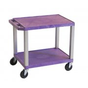 Open Shelf Colored Tuffy Cart with Electric (24.5