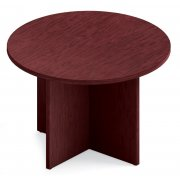 Round Top Table with Bull-Nose Edge & X-Base (42