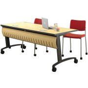 Z3 Table w/Locking Curved Front Modesty and Glides (72