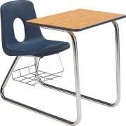 Sled Base Poly Combo Desk - Laminate Top