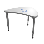 "Adjustable Collaborative School Desk - Whiteboard Top (31x38"")"