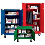 Mobile Steel Wardrobe Storage Cabinet (36