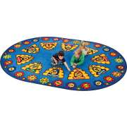 Busy Bee ABC Oval Rug (8'3