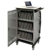 Cloud 32 Chromebook Cart w/Rear Door & Balloon Wheels