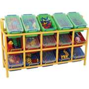 Tilt Plastic Bin Storage Unit - 15 Bins
