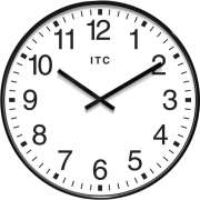 "Profuse Black Oversized Classroom Wall Clock (19"")"