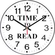 "Time to Read Classroom Wall Clock (12"")"