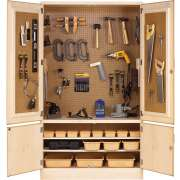 Woodworking Tool Storage Cabinet With Tools