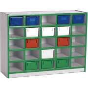 Educational Edge Cubby Storage w/ 25 Plastic Bins