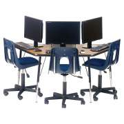 Academia Adjustable Trapezoid Computer Table (48
