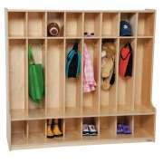 Healthy Kids Colors Preschool Seat Lockers - 8-Section