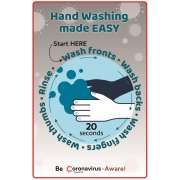 "Hand Washing Wall Decal - 8-Pack (12x18"")"