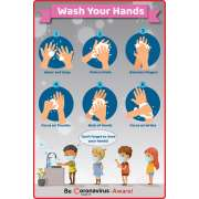"""Hand Washing Wall Decal - 8-Pack (12x18"""")"""