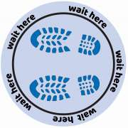 """Social Distancing Round Wall or Floor Decal, 8-Pack (12"""")"""