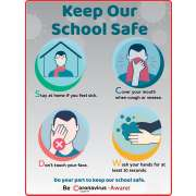 """Keep Our School Safe Wall Decal - 4-Pack (18x24"""")"""