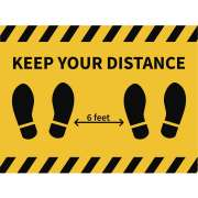 "Social Distancing Wall or Floor Decal - 4-Pack (18x24"")"