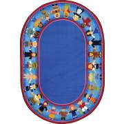 Children of Many Cultures Oval Rug (10'9