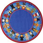 Children of Many Cultures Round Rug (13'2