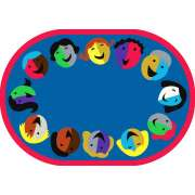 "Joyful Faces Oval Carpet (5'4""x7'8"")"