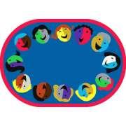 """Joyful Faces Oval Carpet (5'4""""x7'8"""")"""