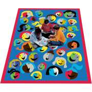 "Joyful Faces Rectangle Carpet (3'10""x5'4"")"