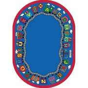 "Reading Train Oval Carpet (7'8""x10'9"")"