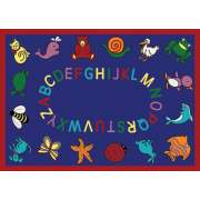ABC Animals Rectangle Carpet (7'8