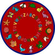 "ABC Animals Round Carpet (7'7"")"