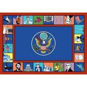 "Symbols of America Rectangle Carpet (5'4""x7'8"")"