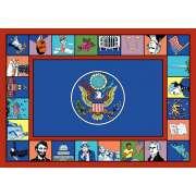 "Symbols of America Rectangle Carpet (5'4""x7'8"")"