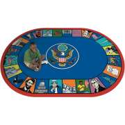 "Symbols of America Oval Carpet (5'4""x7'8"")"