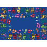 "Musical Chairs Carpet (5'4""x7'8"")"