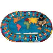 Hands Around the World Oval Carpet (7'8