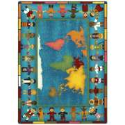 "Hands Around the World Rectangular Carpet (5'4""x7'8"")"
