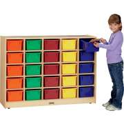 Mobile Cubby Storage w/ 25 Cubby Bins