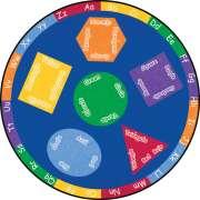 Bilingual Round Carpet