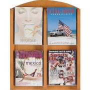 Clear Face Literature Rack with 4 Pockets
