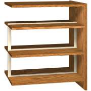 "Double Faced Wood Library Shelving - 42""H Adder, 6 Shelves"